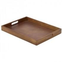 Genware Acacia Wood Butlers Tray 44x32x4.5cm