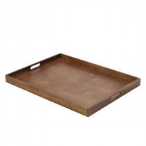 Genware Wooden Butlers Tray 64x48x4.5cm