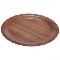 Genware Dark Wood Round Tray 270mm Diameter