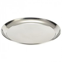 Genware Stainless Steel Round Tray 300mm