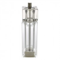 """Genware Acrylic Square Combo Salt and Pepper Grinder 16.5cm/6.5"""""""