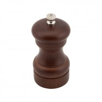 Genware Dark Wood Salt or Pepper Mill Grinder 100mm