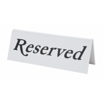 "Berties Plastic ""RESERVED"" Table Sign"