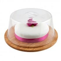 Genware Round Wood Serving or Cake Board 33cm Diameter
