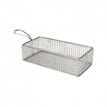 Genware Stainless Steel Serving Fry Basket 21.5x10.5x6cm