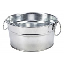 Genware Galvanised Steel Serving Bucket 15x8cm