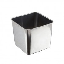 Genware Stainless Steel Square Server 8x8x6cm