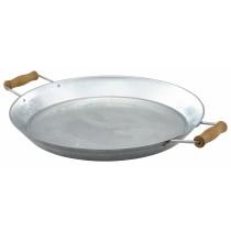 "Genware Galvanised Steel Platter 35.5cm/14"" Diameter"