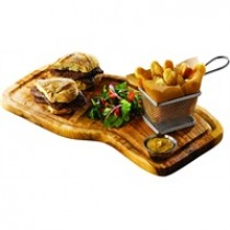 Genware Olive Wood Serving Board with Groove 40x21cm