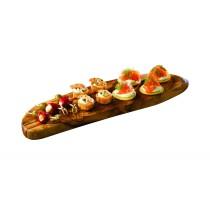 Genware Olive Wood Rustic Platter 40x13cm