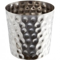 Genware Stainless Steel Hammered Serving Cup 8.8cmDia x 8.3c