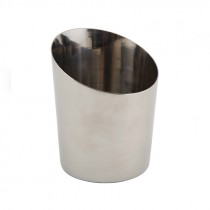 Genware Stainless Steel Plain Angled Serving Cup 11.6x9.5cm