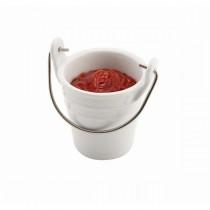 Genware Porcelain Serving Bucket 6.5cm Diameter 10cl/3.5oz