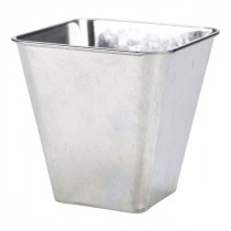 Genware Galvanised Steel Flared Serving Tub 10x10cm