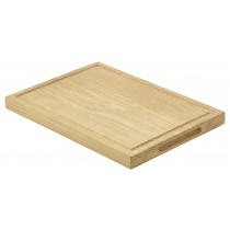 Genware Oak Wood Serving Board 28x20x2cm