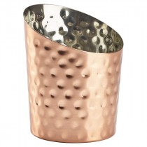 Genware Copper Hammered Angled Cone  11.6x9.5cm