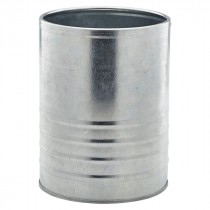 Genware Galvanised Steel Can 14.5x11cm Diameter