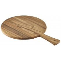Genware Acacia Wood Pizza Paddle 33cm Diameter