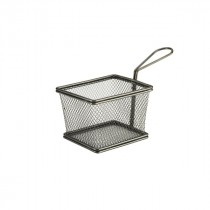 Genware Black Serving Fry Basket 12.5x10x8.5cm