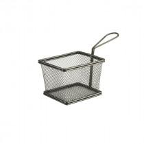 Genware Black Serving Fry Basket 12.5x10x8.5cm