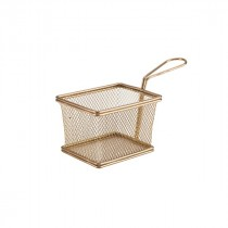 Genware Copper Serving Fry Basket 12.5x10x8.5cm