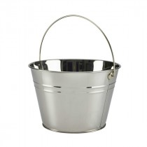 Genware Stainless Steel Serving Bucket 25cm Diameter