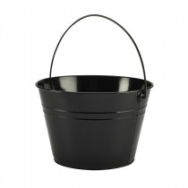 Genware Stainless Steel Black Serving Bucket 25cm Diameter