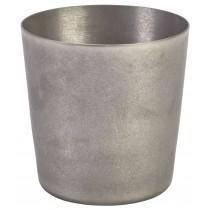 {Genware Vintage Steel Serving Cup 8.5x8.5cm}