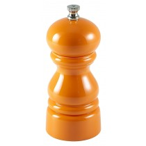 Genware Acrylic Salt or Pepper Grinder Orange 12.7cm-5""