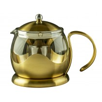 {La Cafetiere Brushed Gold Teapot 660ml}