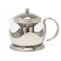{La Cafetiere Stainless Steel Teapot 600ml}