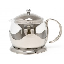 {La Cafetiere Stainless Steel Teapot 1200ml}