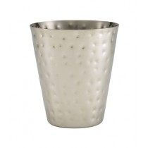 Genware Stainless Steel Hammered Conical Serving Cup 9x10cm