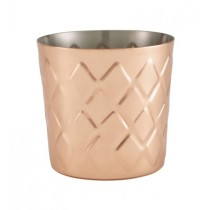 Genware Copper Diamond Serving Cup 8.5x8.5cm