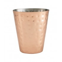 Genware Copper Hammered Conical Serving Cup 9x10cm