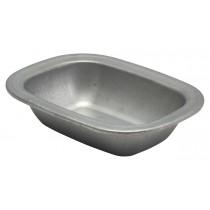 Genware Vintage Steel Pie Dish 18x13.5x4cm