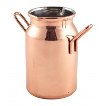 Genware Copper Mini Milk Churn 14cl-5oz