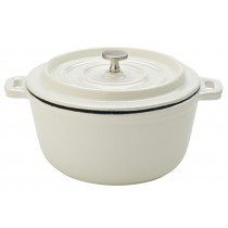 Utopia White Calico Cast Iron Lidded Casserole 14cm/5.5""