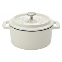 Utopia White Calico Cast Iron Lidded Casserole 10cm/4""