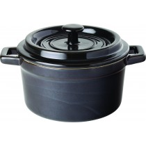 Utopia Midnight Black Stoneware Lidded Casserole 79cl/27.7oz