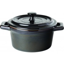 Utopia Midnight Black Stoneware Lidded Casserole 26cl/9oz