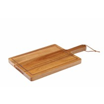 "Utopia Chicago Acacia Wood Handled Board 30x23cm/12x9"""