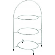 "Utopia Chrome 3 Tier Cake Stand (for 23cm/9"" Plates)"