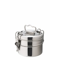 "Utopia Stainless Steel Tiffin Boxes 2 Tier 11cm/4.25""(Dia.)"