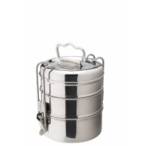 "Utopia Stainless Steel Tiffin Boxes 3 Tier 11cm/4.25""(Dia.)"