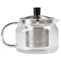 {Genware Glass Teapot 47cl/16.5oz}