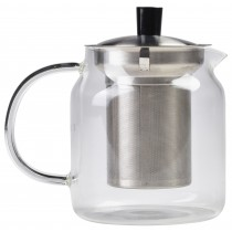 {Genware Glass Teapot 70cl/24.75oz}