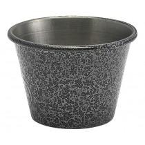 Genware Stainless Steel Ramekin Hammered Silver 7cl-2.5oz