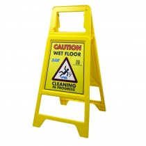 SYR Caution Wet Floor Sign Yellow