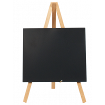 Berties Wooden Mini Chalkboard Easel Natural 24 x 11.5cm